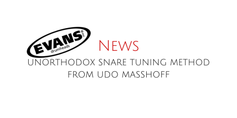 Unorthodox Snare Tuning Method From Udo Masshoff