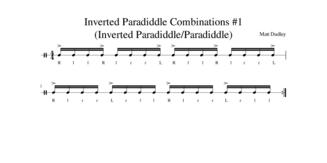 inverted paradiddle combination #1